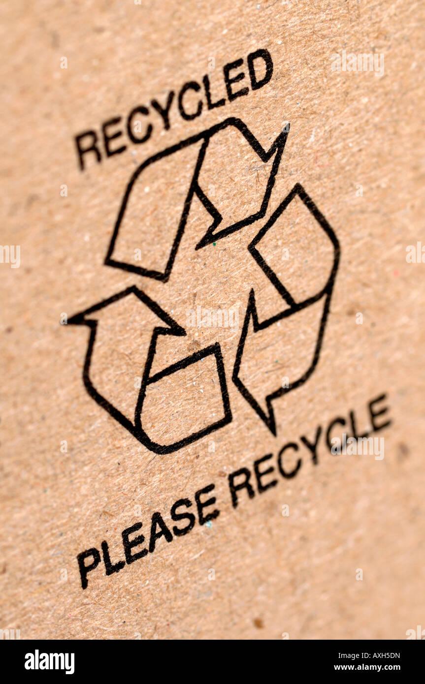 Recycle logo - Stock Image
