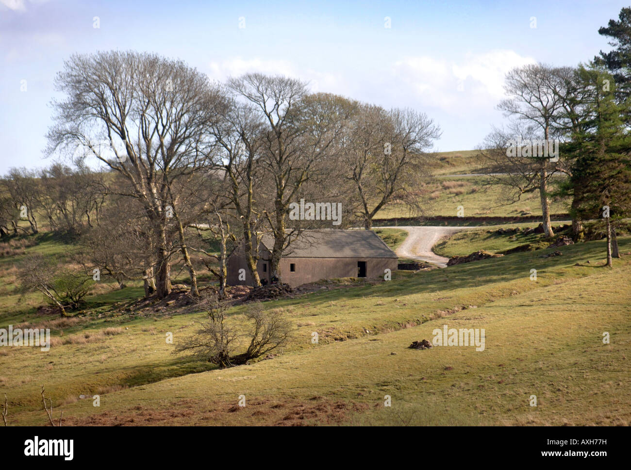 A BRITISH ARMY BUILDING IN BRECON WALES USED FOR MILITARY TRAINING INCLUDING SNIPERS TARGETING - Stock Image