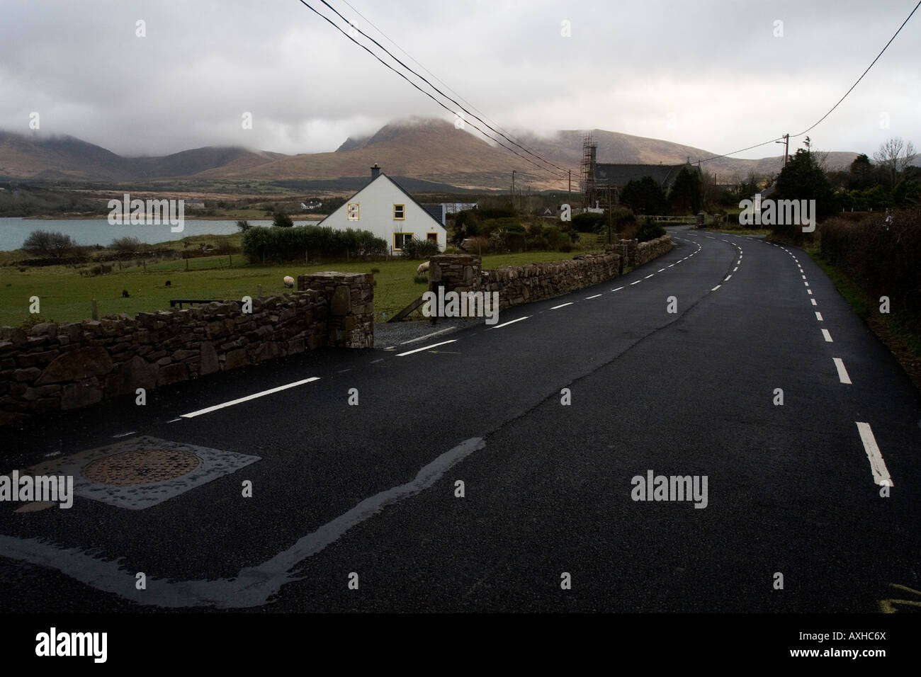 The village of Cloghane (An Clochán) on the Dingle Peninsular, western Ireland. - Stock Image