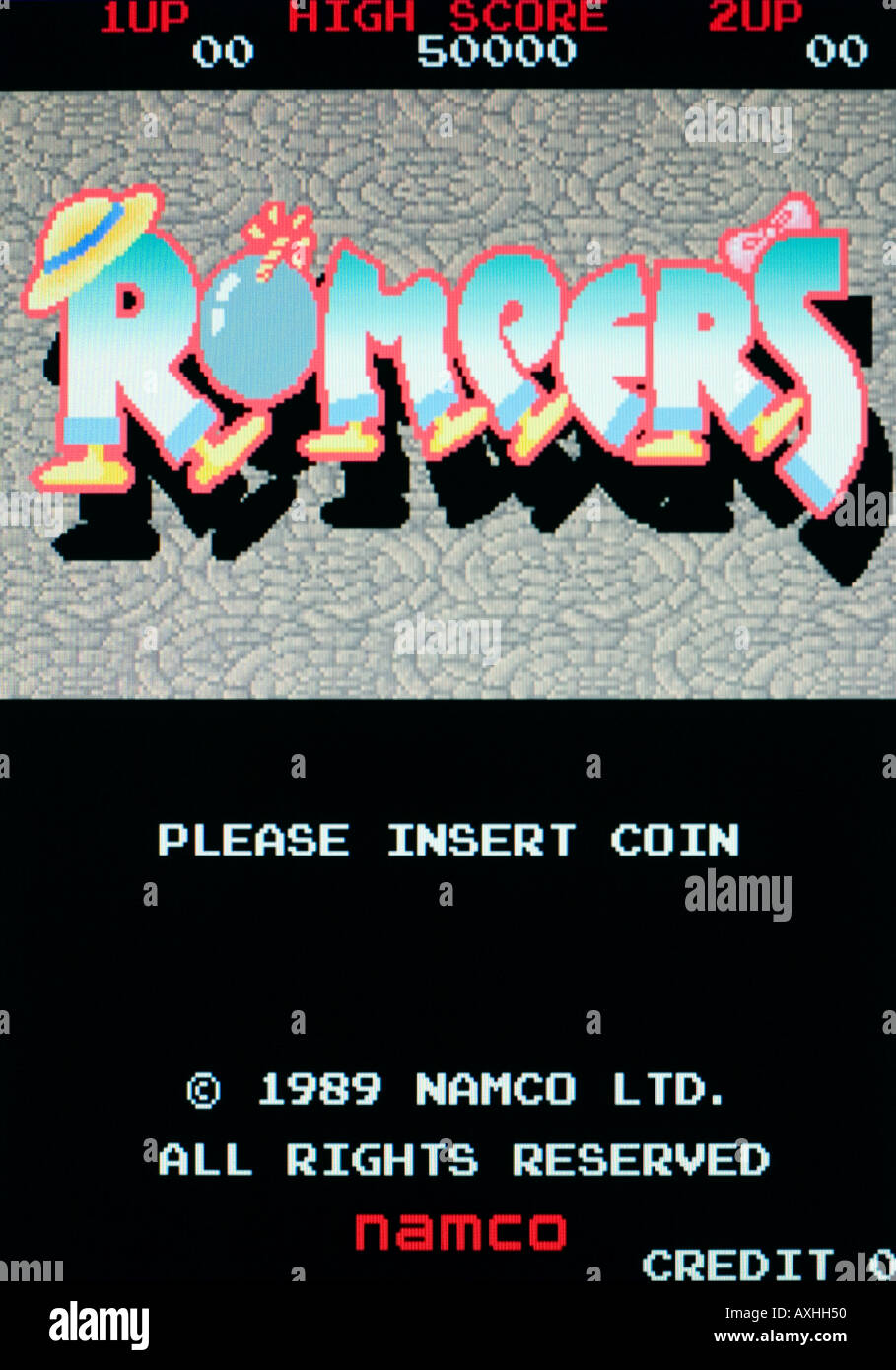Rompers Namco 1989 Vintage arcade videogame screen shot - EDITORIAL USE ONLY - Stock Image