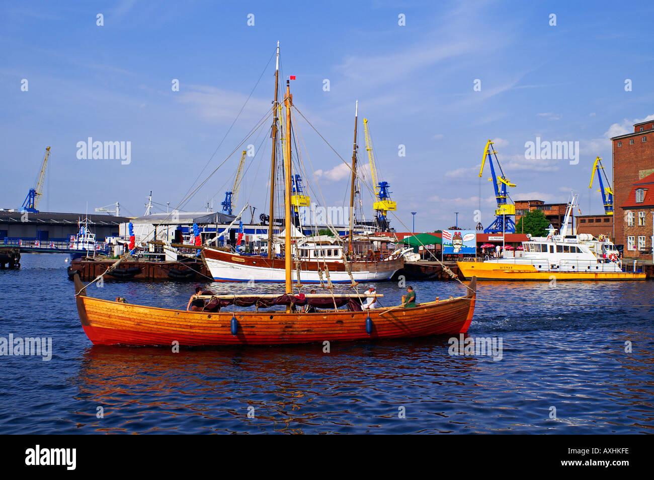 habor Hafen Wismar - Stock Image