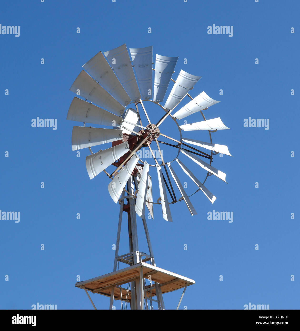 wind powered water pump barrydale south africa stock photo