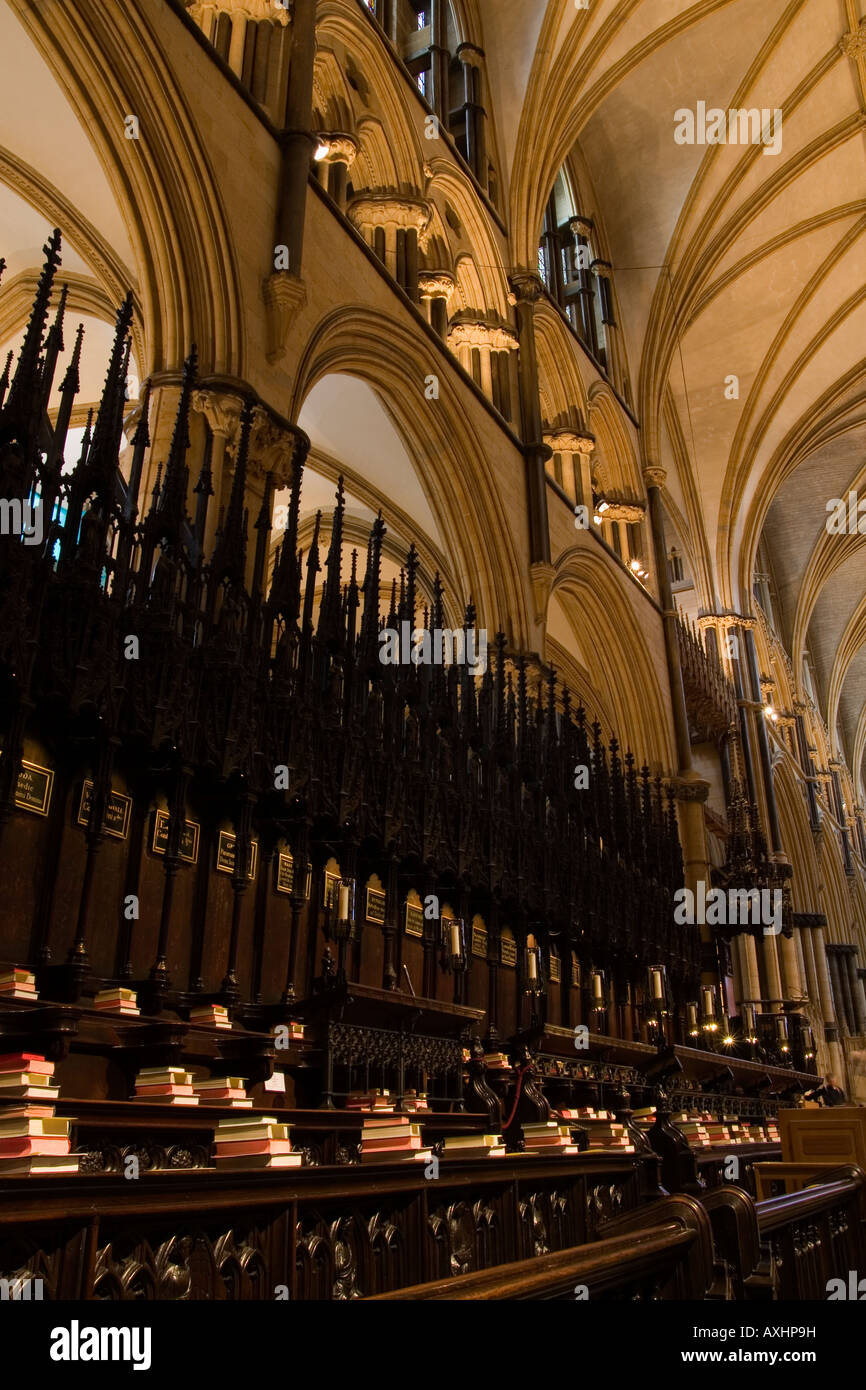 Inside Lincoln Cathedral, England, UK - Stock Image