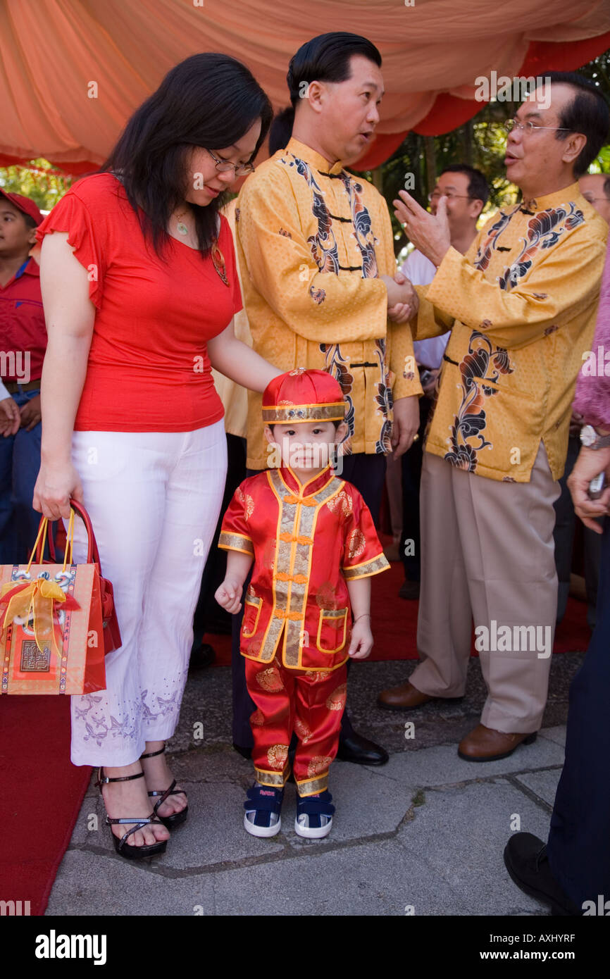 Chinese boy in national costume at Chinese New Year celebrations Fort Cornwallis Georgetown Penang Malaysia.  sc 1 st  Alamy & Chinese boy in national costume at Chinese New Year celebrations ...