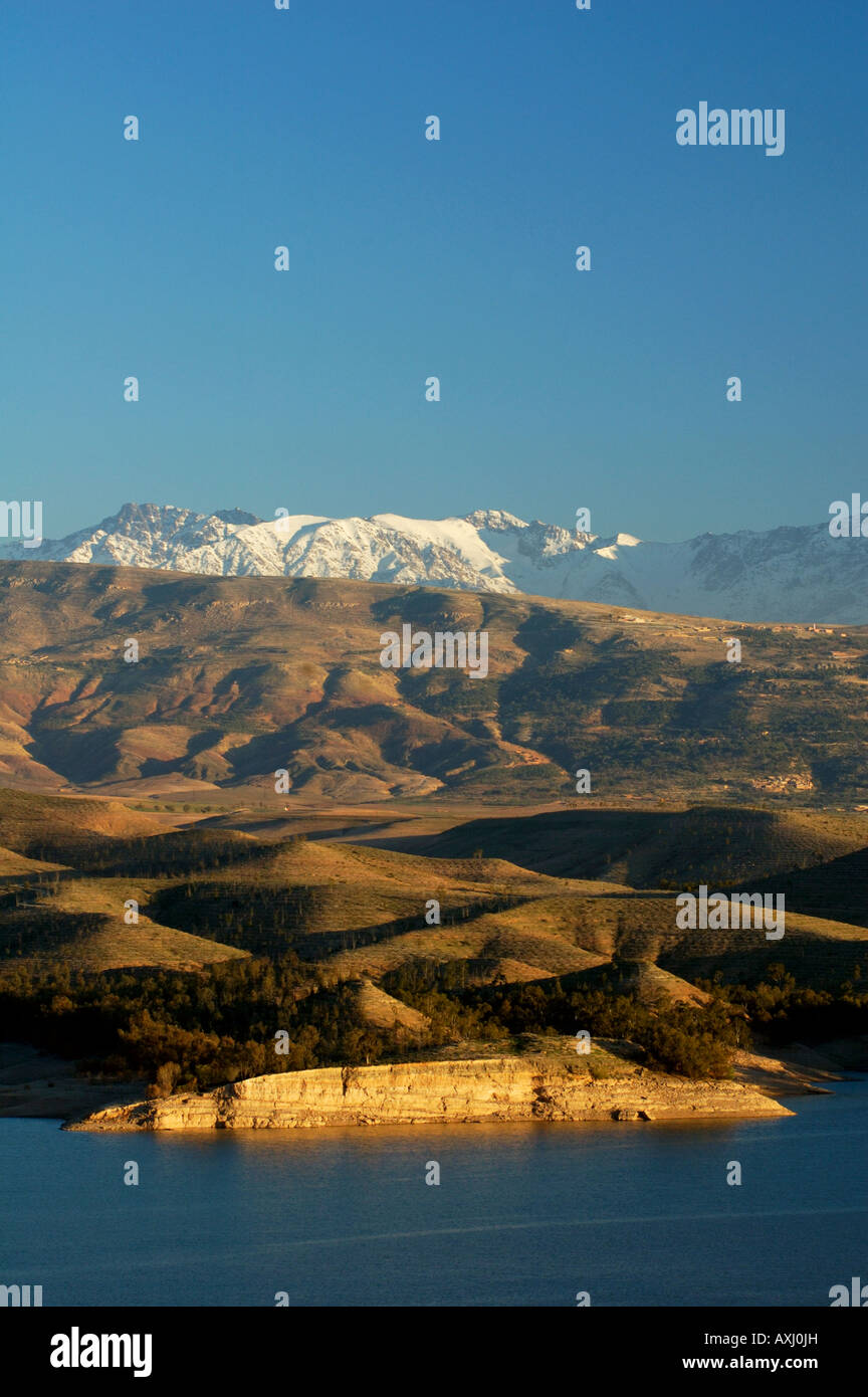 Foothills of High Atlas mountains south of Marrakech Morocco - Stock Image