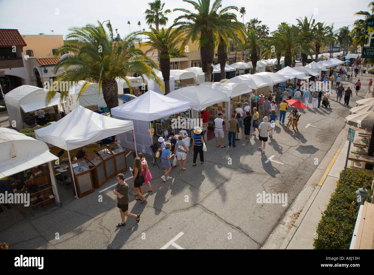 Annual Art Craft show in downtown Venice Florida - Stock Image