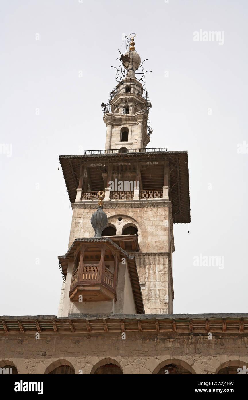 Syria Damascus Great Umayyad mosque minaret of the bride - Stock Image