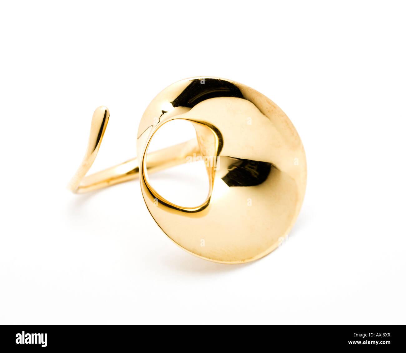 Georg Jensen vintage gold ring jewellery - Stock Image