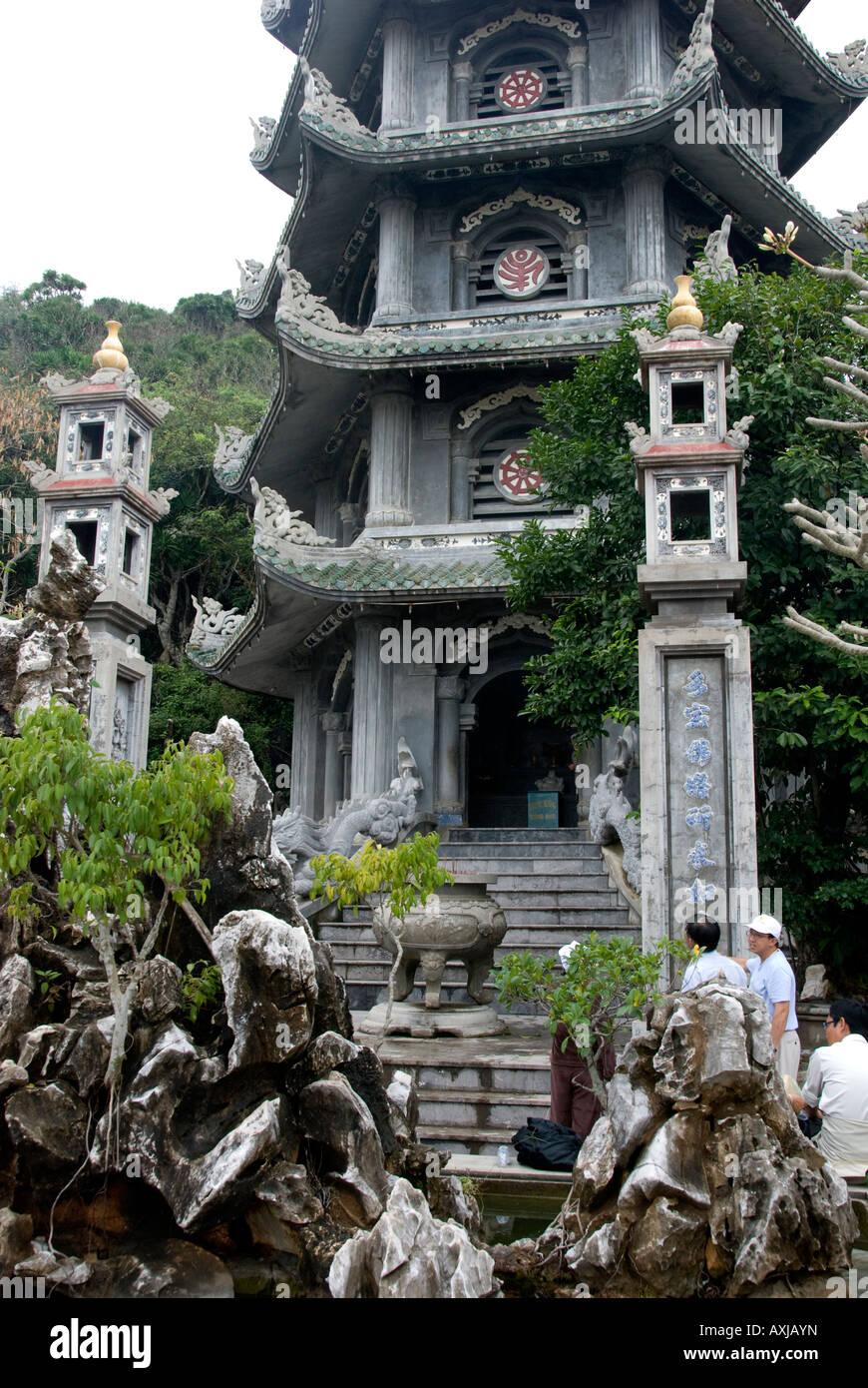 Linh Ong Pagoda, Thuy Son, Marble Mountains, Danang, Vietnam - Stock Image