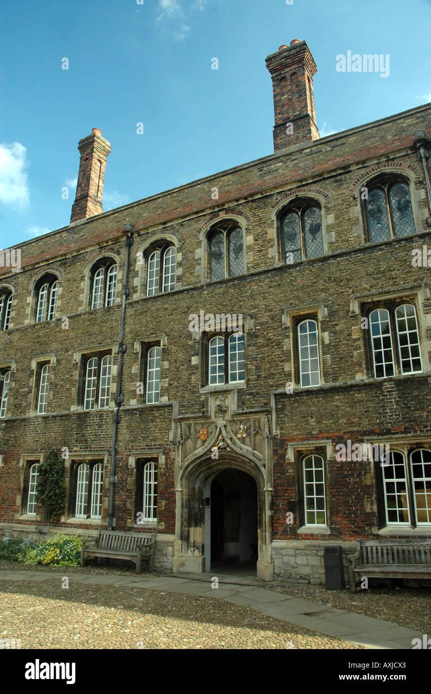 First Court, north range of Jesus College in Cambridge, UK - Stock Image
