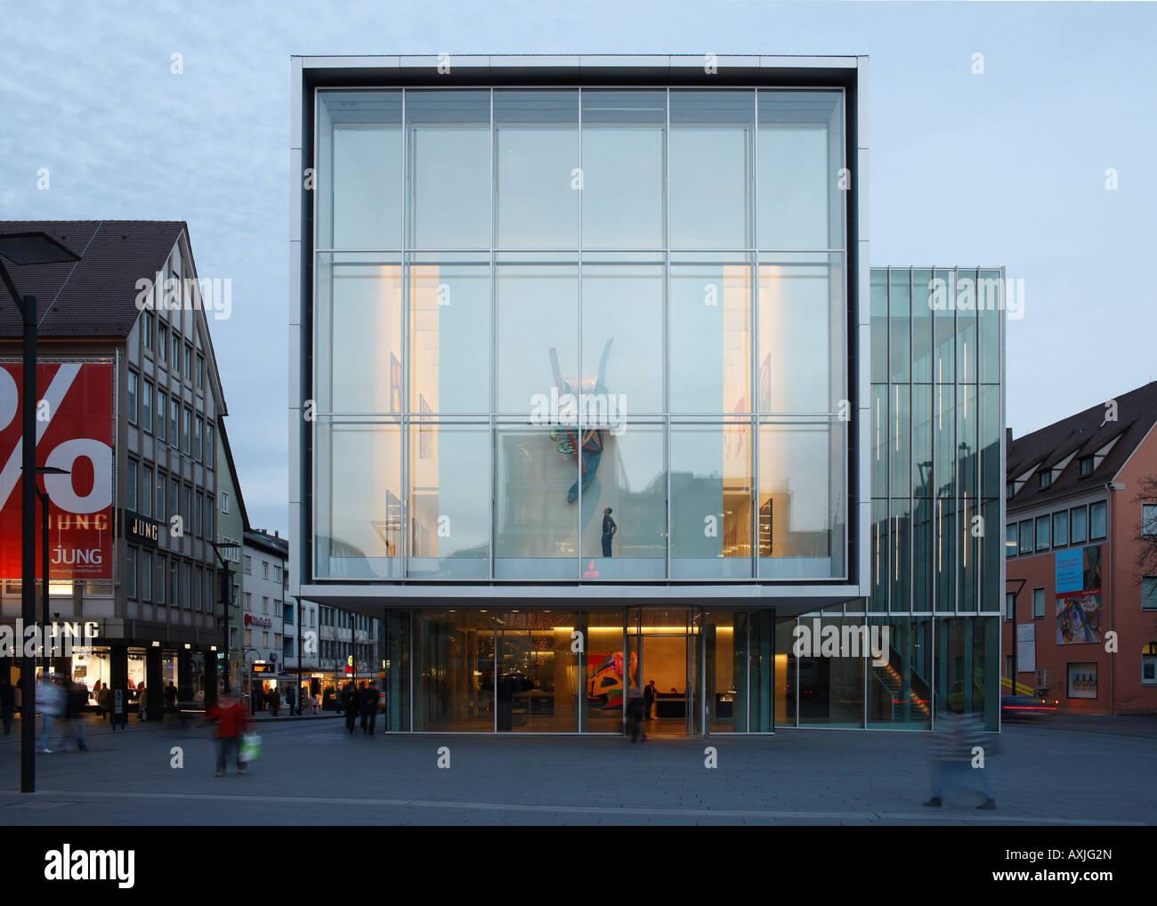 Ulm, Kunsthalle, Architekten: wwa wöhr heugenhauser 2007 - Stock Image