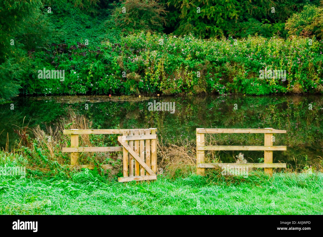 Gate to nowhere - Stock Image