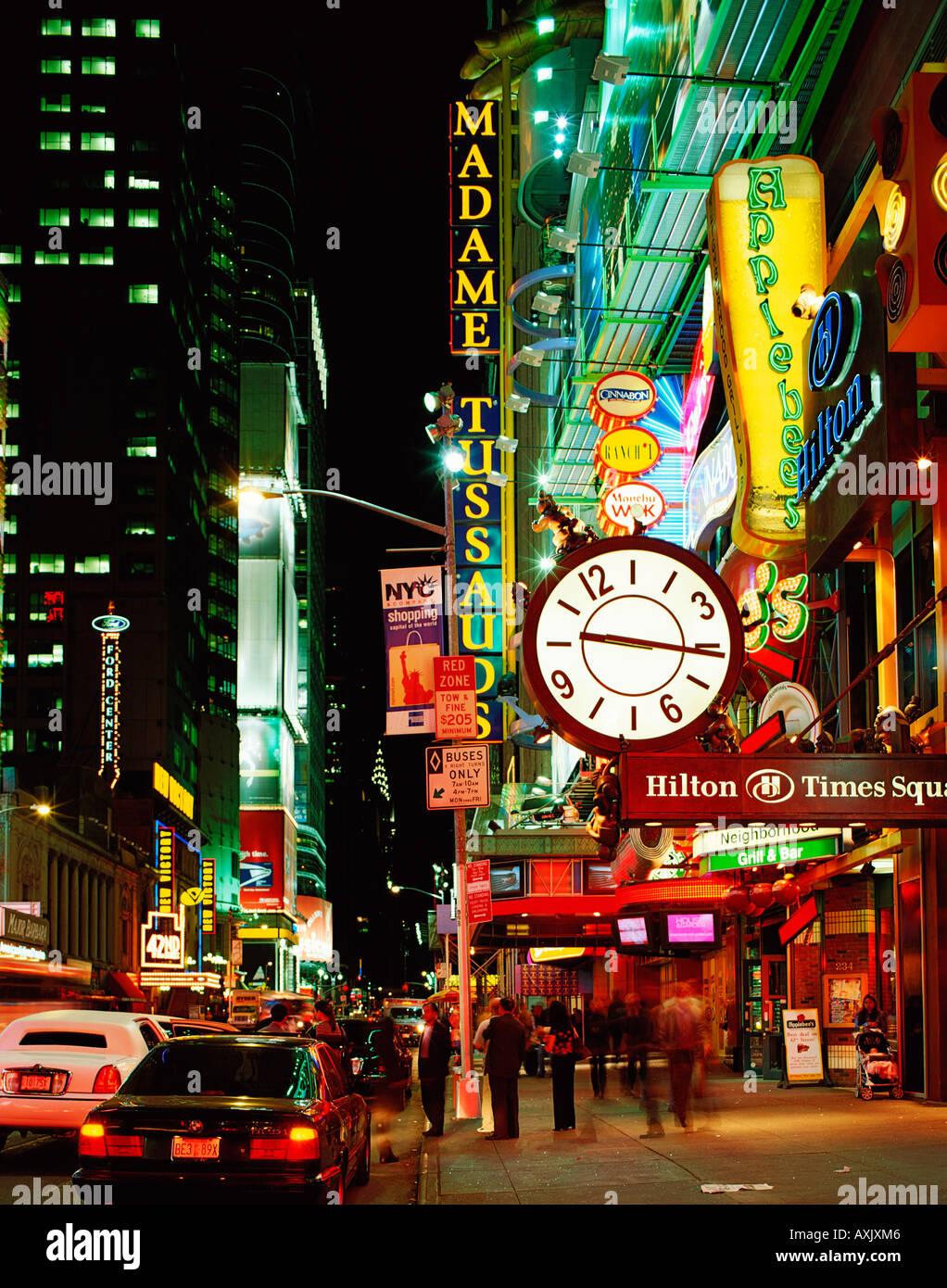 USA  NEW YORK  42nd STREET - Stock Image