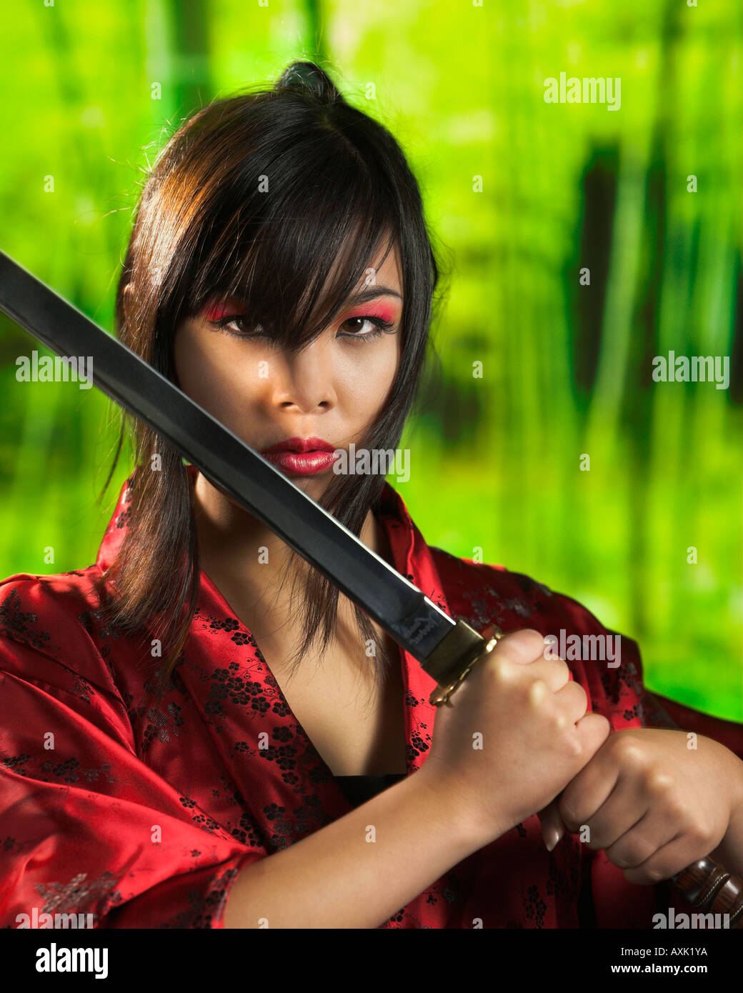 Female Asian fighting