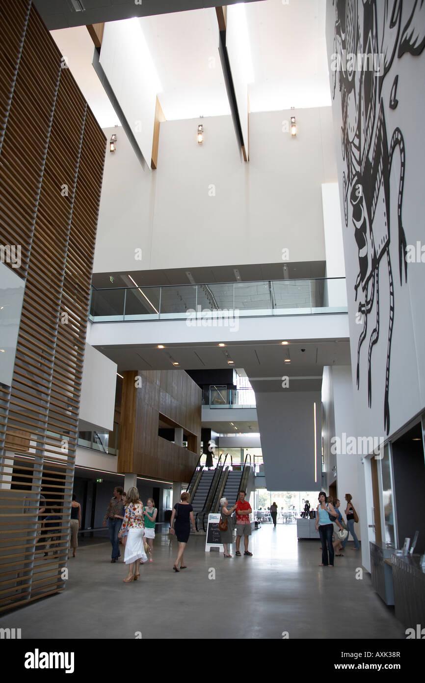 Foyer Museum Queensland : Atrium interior stock photos