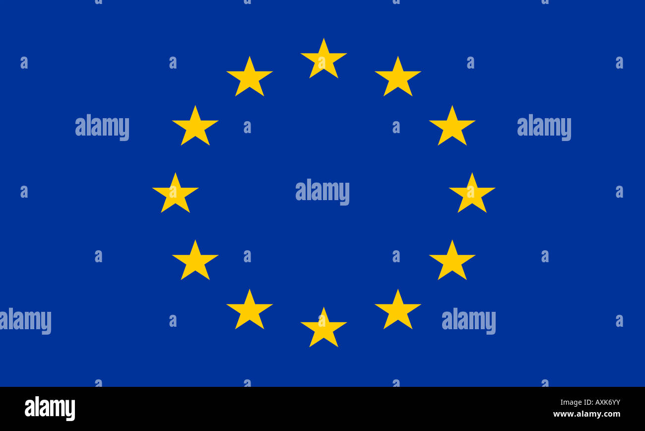 Flag of the european union - Stock Image