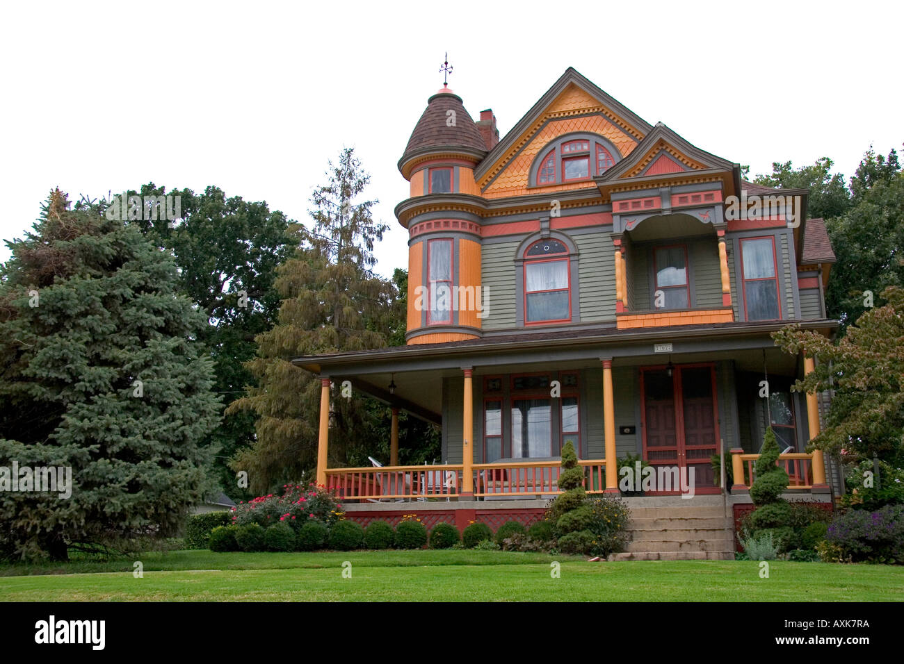 Victorian house at Independence Missouri - Stock Image