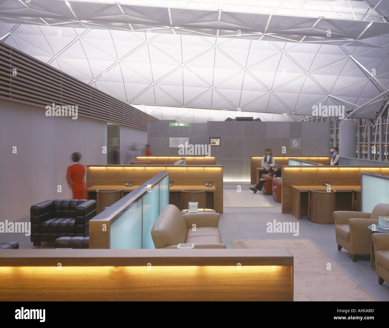 THE WING CATHAY PACIFIC LOUNGE CHEK LAP KOK AIRPORT - Stock Image
