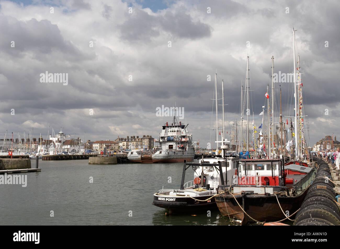 Lowestoft Harbour - Stock Image