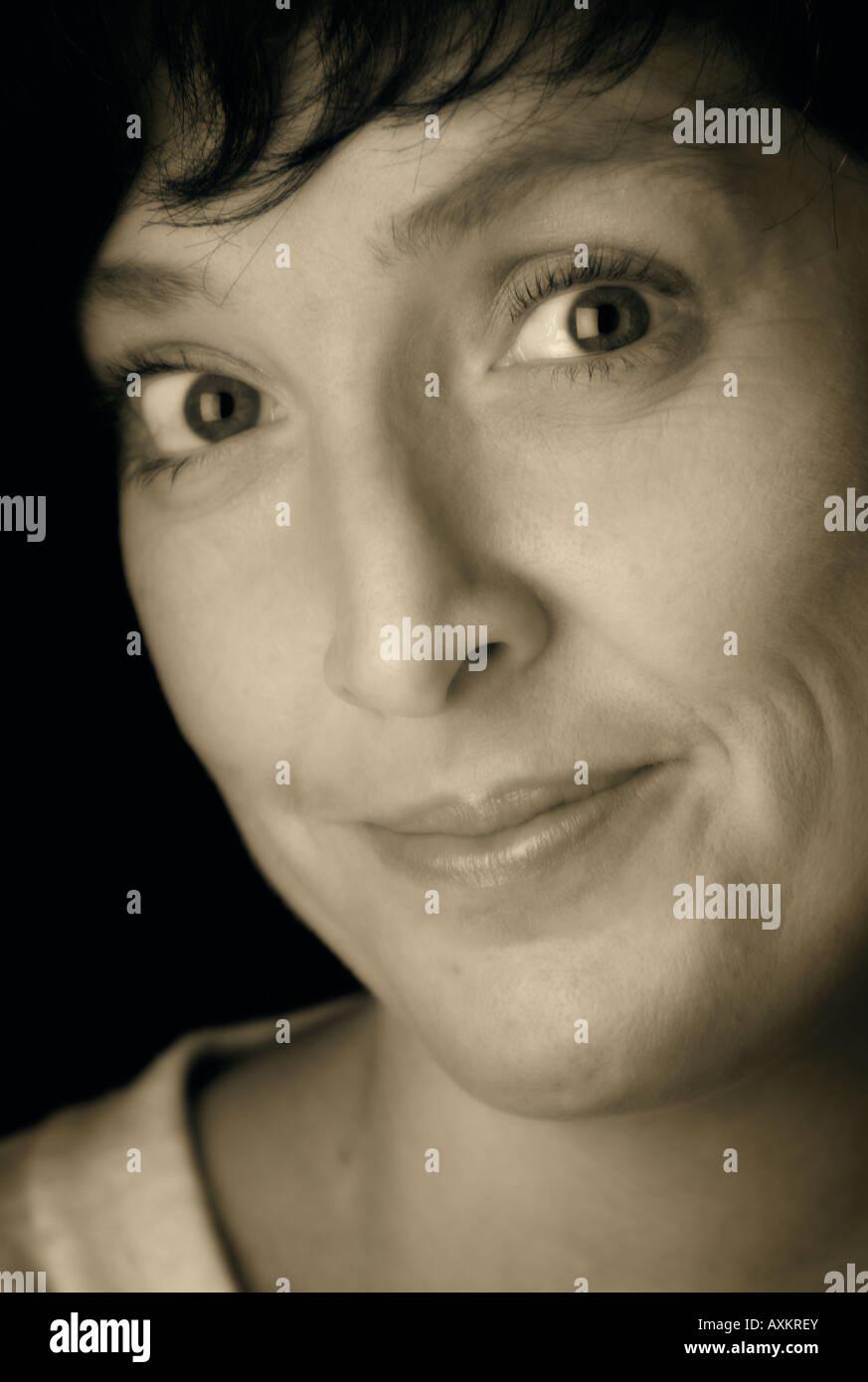 Studio portrait of woman Stock Photo