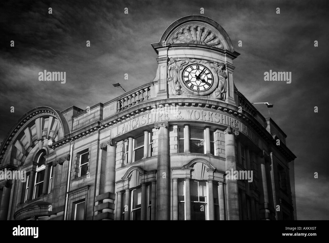 Victoria Railway Station Manchester Clock tower - Stock Image