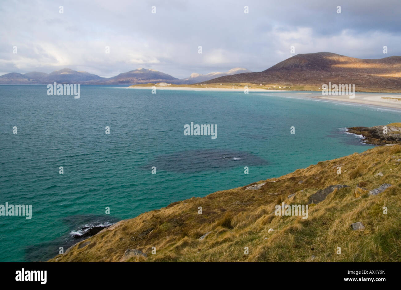 A beach on South Harris Outer Hebrides Scotland UK - Stock Image