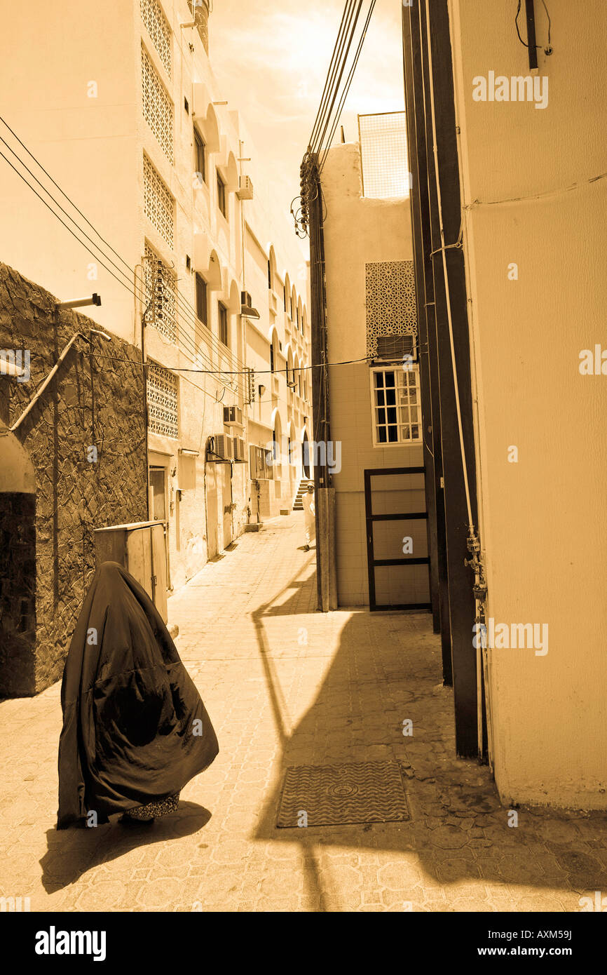 Oman, Muscat, Muttrah. Local woman, Al-Lawatiah District. - Stock Image