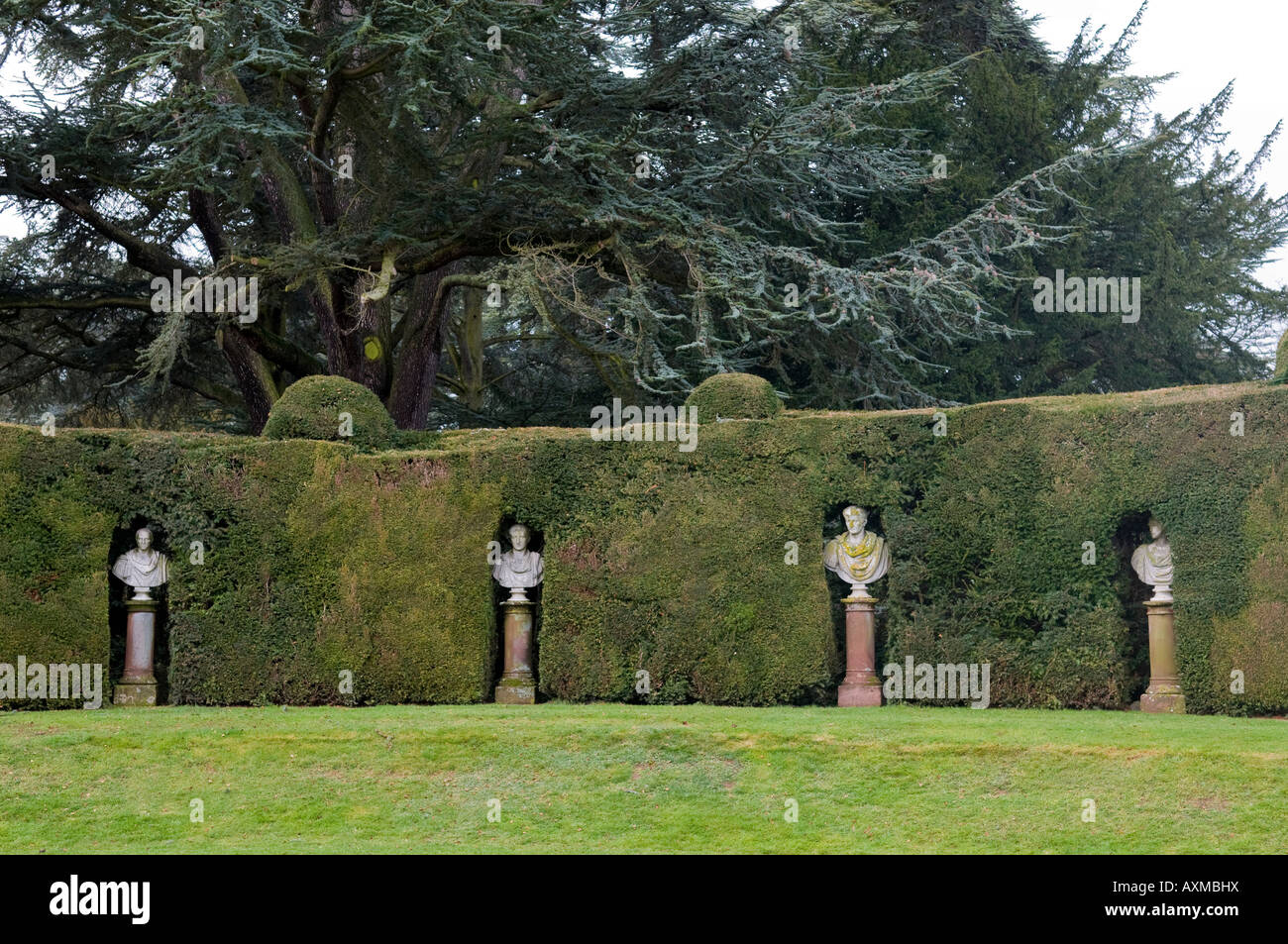 The Caesar's Lawn at Madresfield Court near Malvern in Worcestershire England - Stock Image