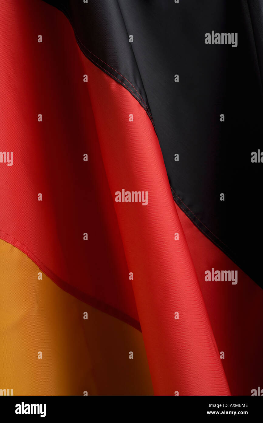 Close up of flag of Germany - Stock Image