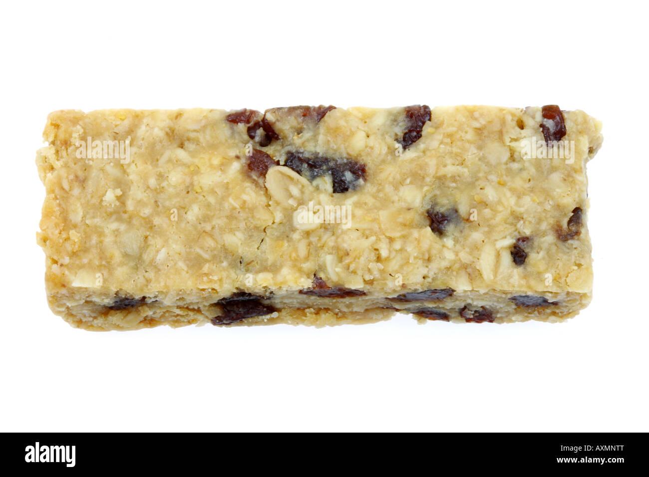 Nut and Raisin Flap Jack - Stock Image