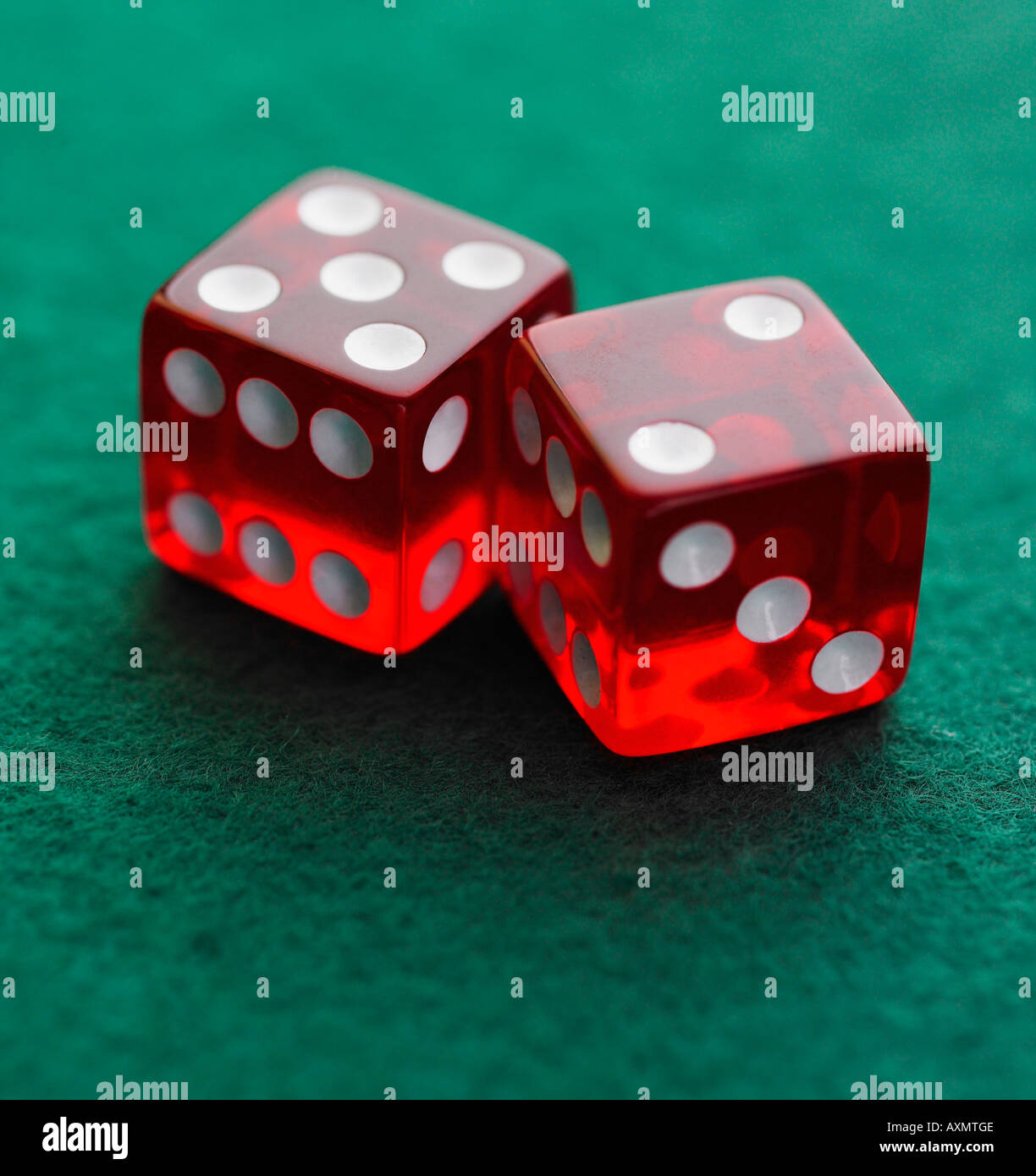 Still life of pair of dice - Stock Image