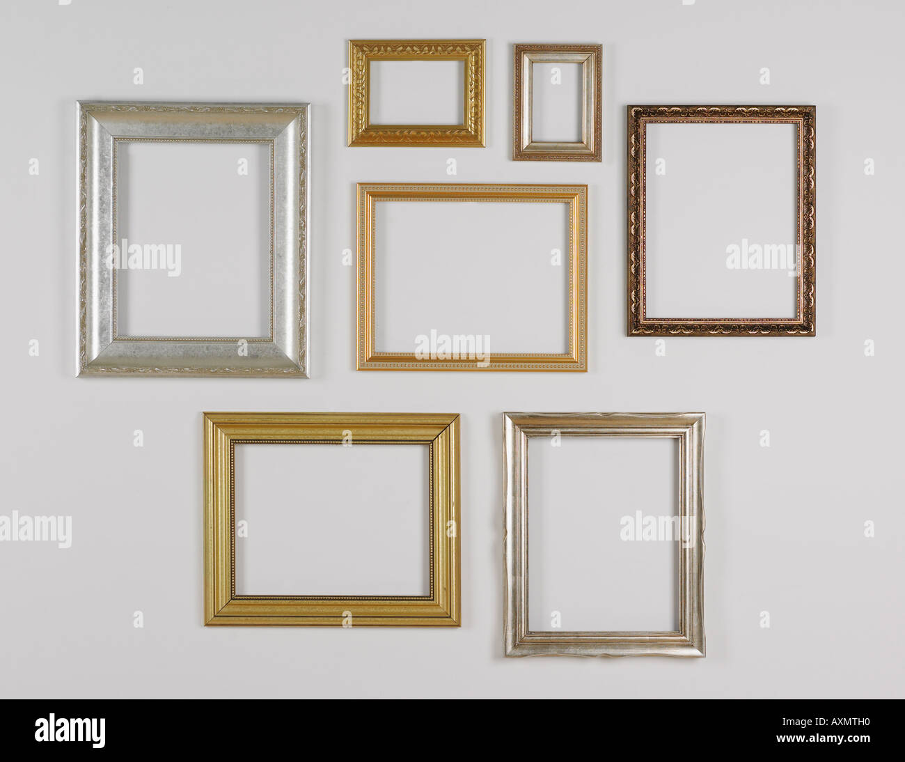 Still life of hanging picture frames without pictures Stock Photo ...