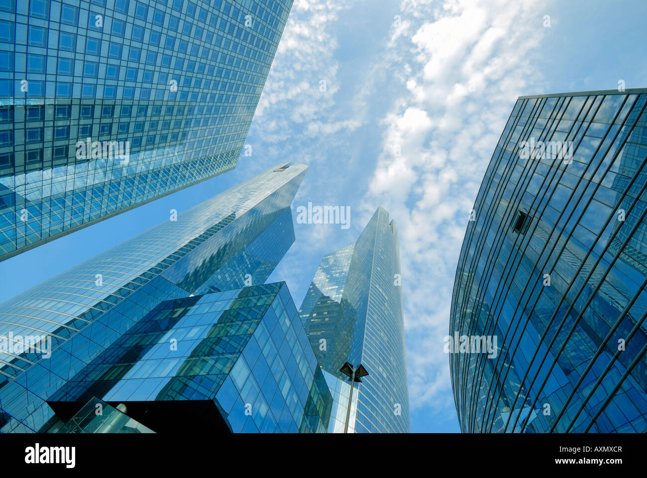 skyscrapers in financial district of La Defense Paris France - Stock Image