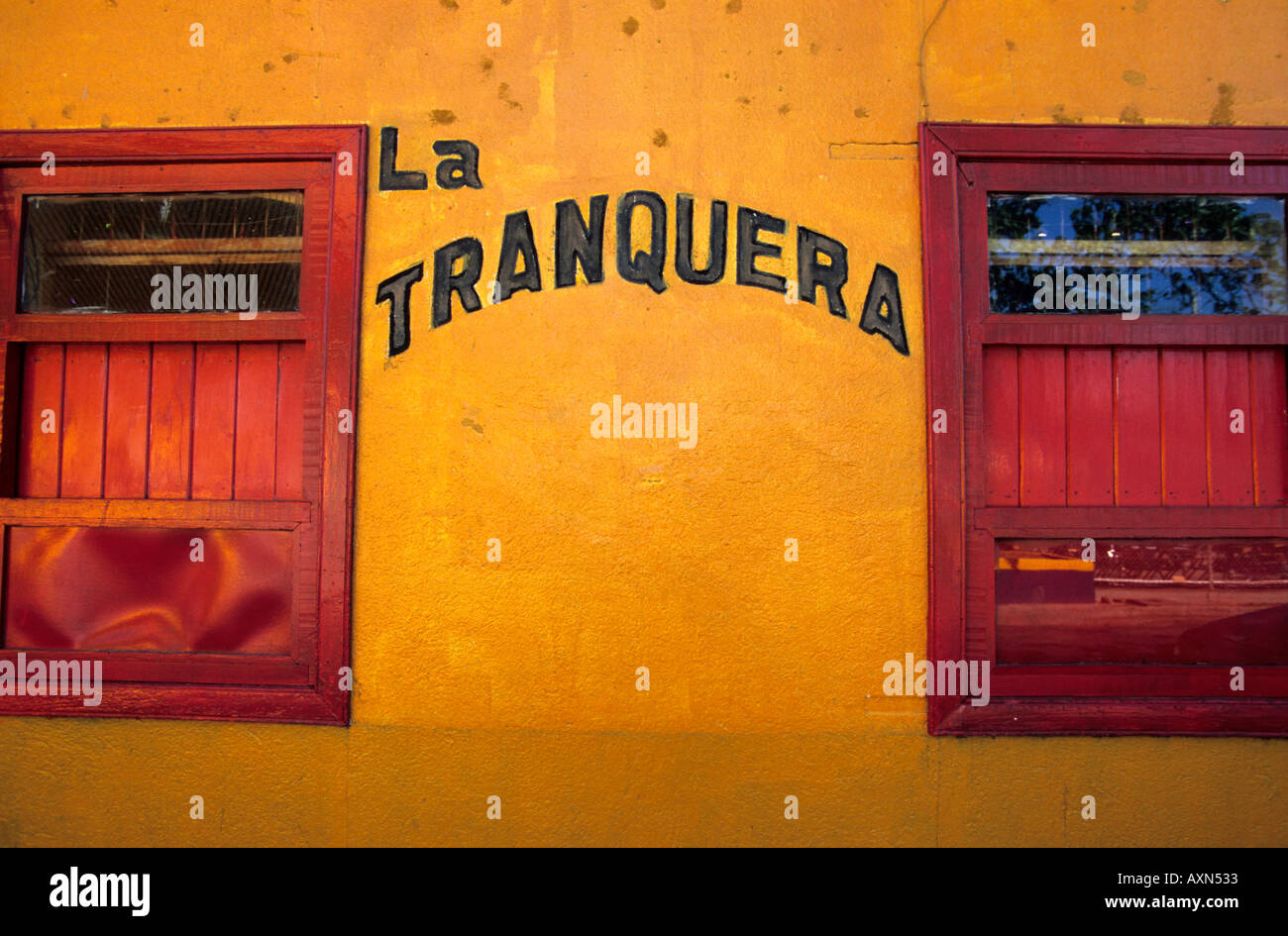 Liberia, Guanacaste - Costa Rica. Business storefront - Stock Image