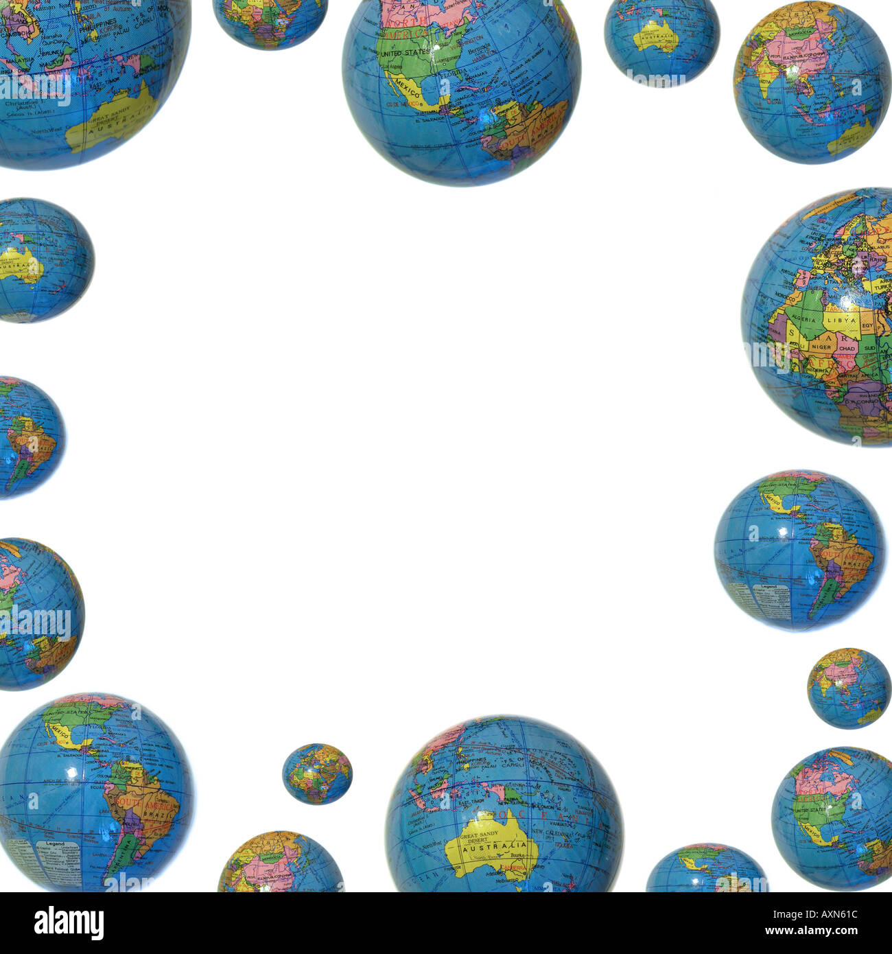 Globe Border Background Frame Stock Photo 3135003 Alamy