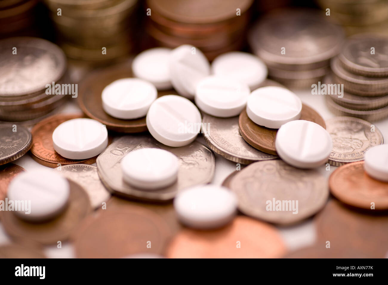 medicine costs pharmaceutical industry making money pills and coins