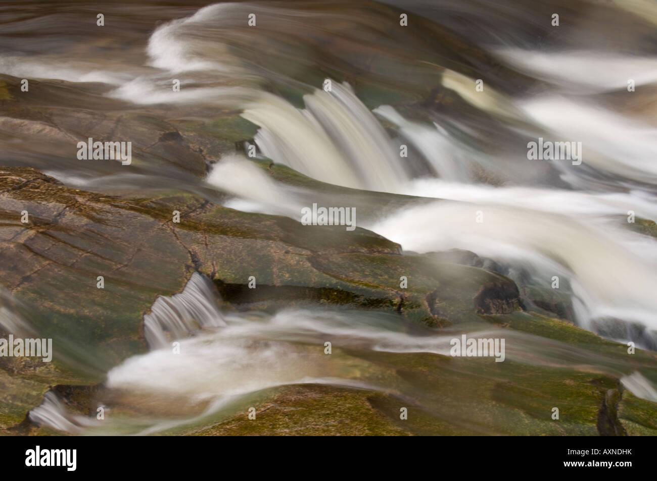 Moving water Glen Coe Scotland - Stock Image