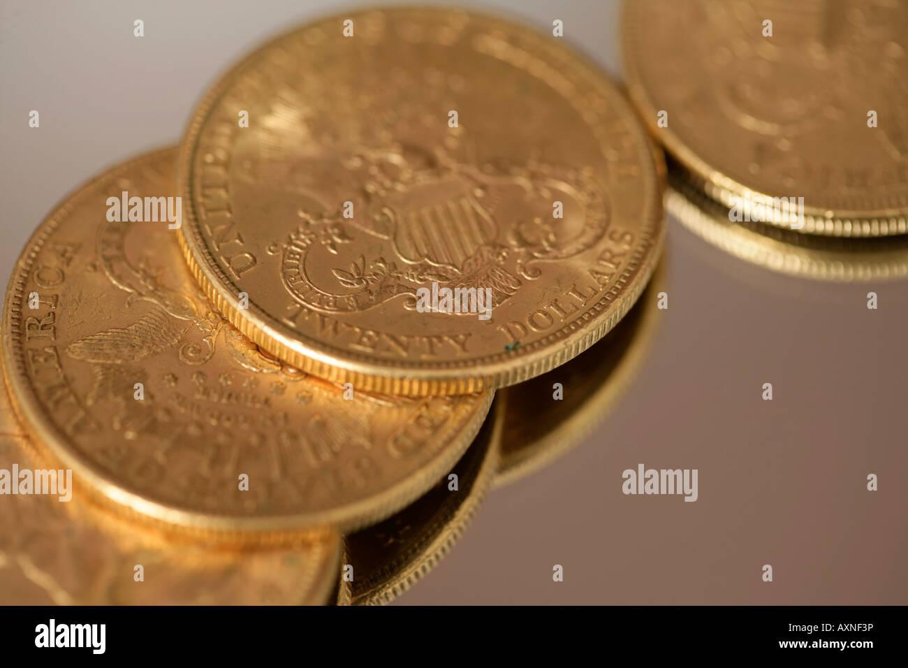 25 Dollar Gold Coins Stock Photos 25 Dollar Gold Coins Stock