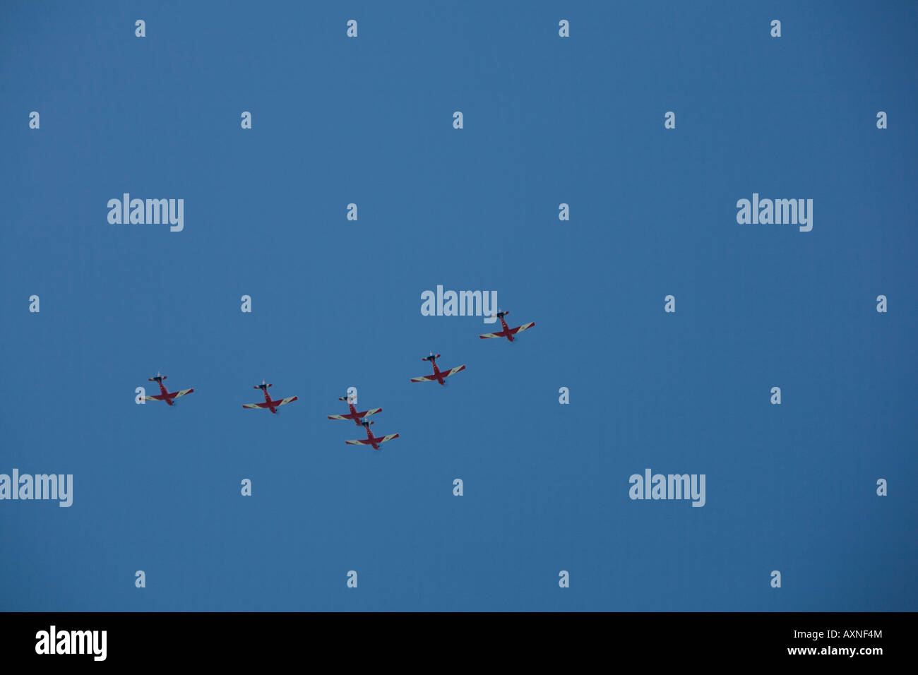 aeroplanes flying in formation over sydney - Stock Image
