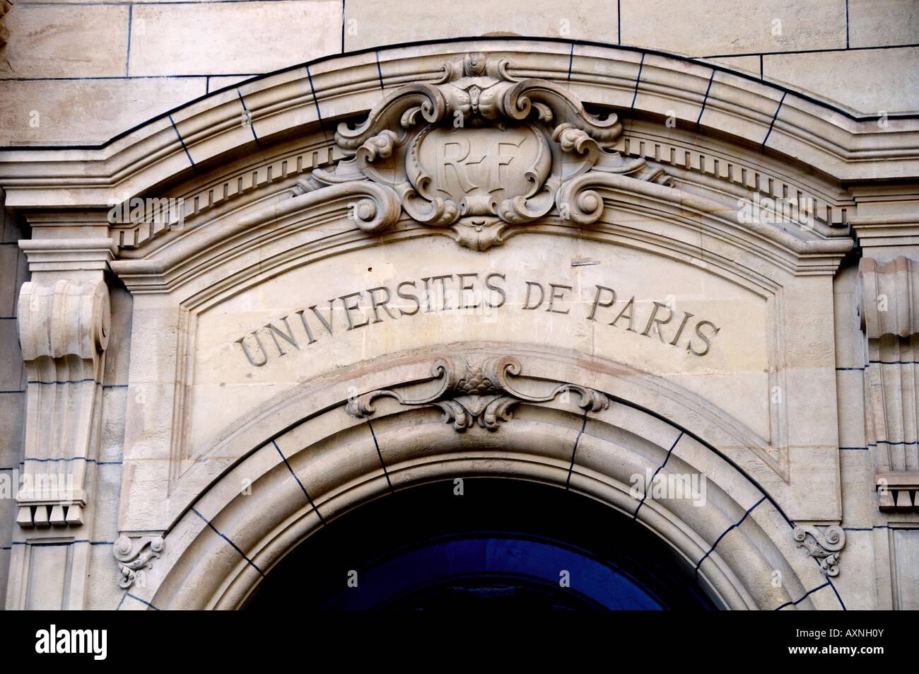Sorbonne university of paris place la Sorbonne France - Stock Image