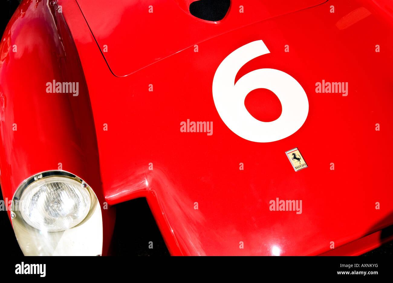 Vintage Formula One F1 Racing Car Ferrari Number 6 Classic Power