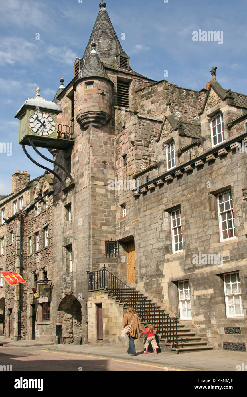 Old Tolbooth, Canongate, Royal Mile, Edinburgh,Scotland Stock Photo