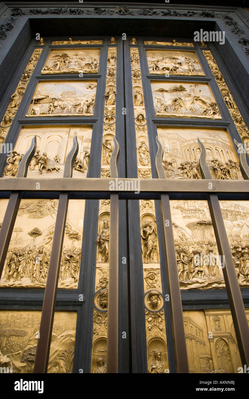 Bronze doors of the Baptistery of San Giovanni Florence Italy & Bronze doors of the Baptistery of San Giovanni Florence Italy Stock ...