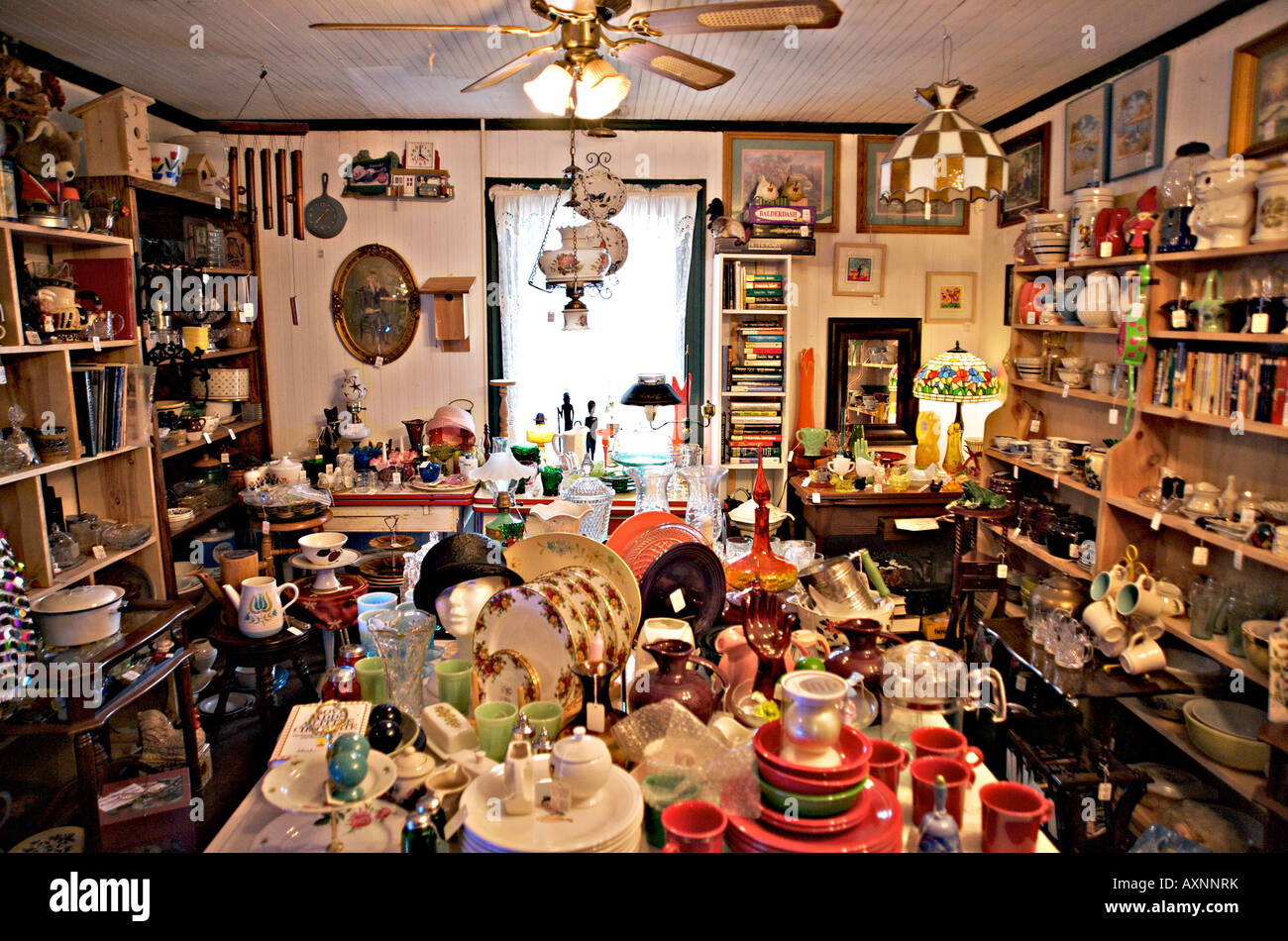 Display of antiques. - Stock Image