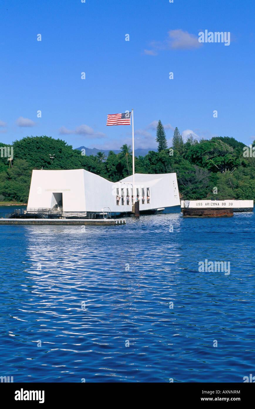 Arizona Memorial Pearl Harbor Honolulu Oahu Hawaii USA Stock Photo