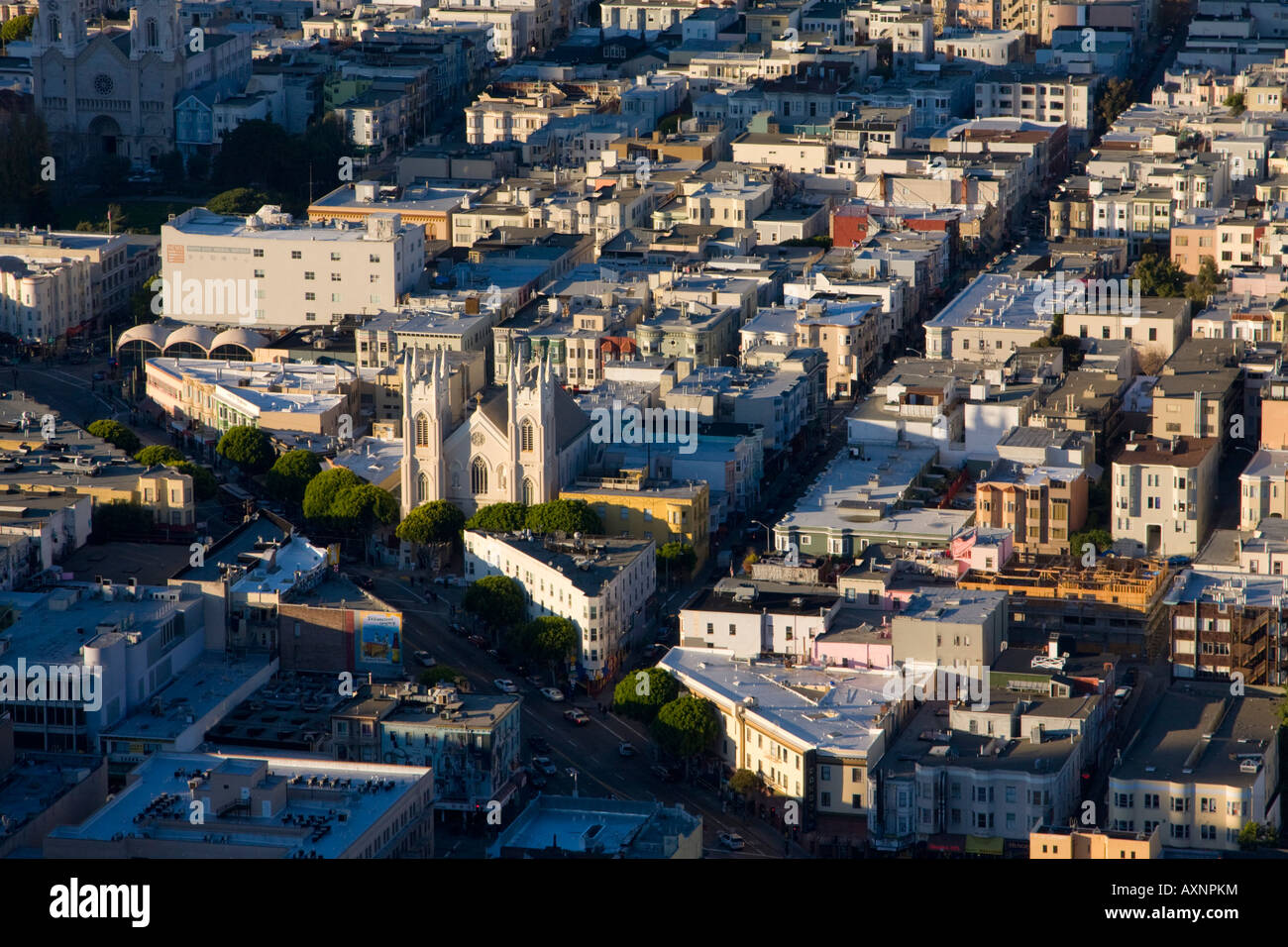 High level view of San Francisco USA - Stock Image