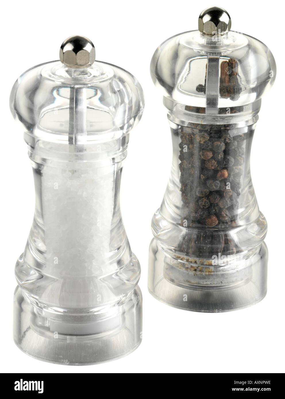 SALT AND PEPPER MILL / GRINDER CUT OUT - Stock Image