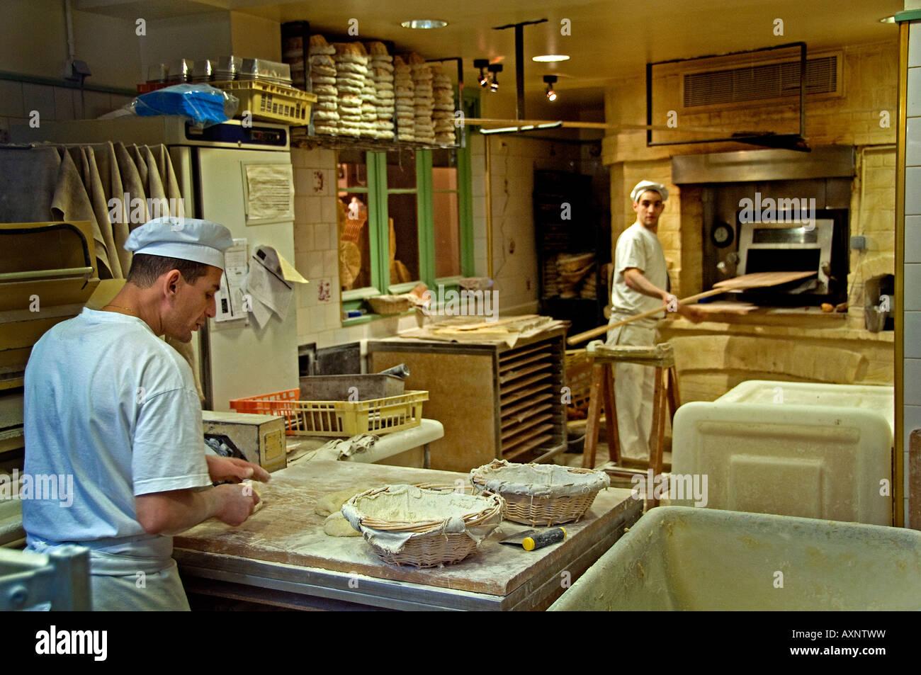 St Germain des Pres Paris Bakery bakehouse baker - Stock Image
