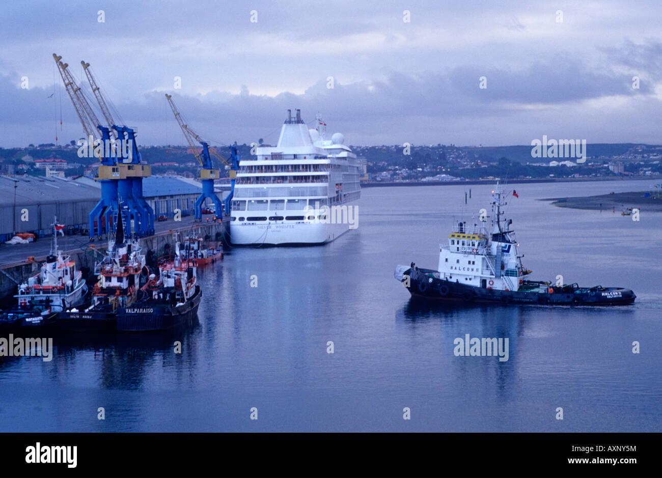 Angelmó wharf Puerto Montt Los Lagos Región X Chile South America - Stock Image