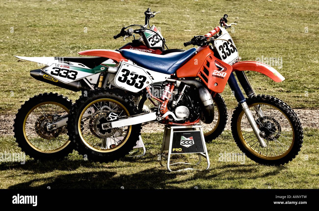 Honda Bike Stock Photos Images Alamy 2006 50cc Pit 1987 Cr250r Motocross Dirt With Husqvarna Tc450 Four Stroke